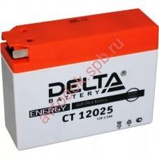 АКБ Delta moto 12v 2,5A/h 40А торц.  114х39х87