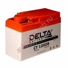 АКБ Delta moto 12v 2,5A/h 45А торц.  115х50х86