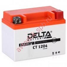 АКБ Delta moto 12v 4A/h (R+) 50А  114х70х87