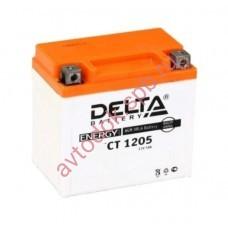 АКБ Delta moto 12v 5A/h (R+) 70А 114х70х106
