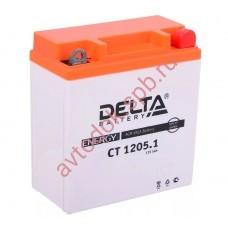 АКБ Delta moto 12v 5A/h (R+) 65А 120х61х129