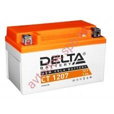 АКБ Delta moto 12v 7A/h (L+) 105A  150х86х94