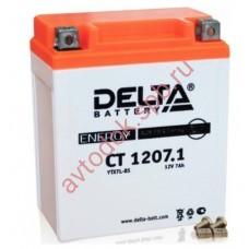 АКБ Delta moto 12v 7A/h (R+) 100A  114x70x132