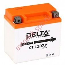 АКБ Delta moto 12v 7A/h (R+) 130A  114х70х108