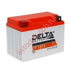 АКБ Delta moto 12v 11A/h (L+) 210А  151х86х112