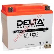 АКБ Delta moto 12v 12A/h (L+) 180А  150х86х131
