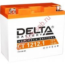 АКБ Delta moto 12v 12A/h (L+) 155А  151х71х130