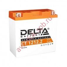 АКБ Delta moto 12v 14A/h (L+) 135А  151х71х146