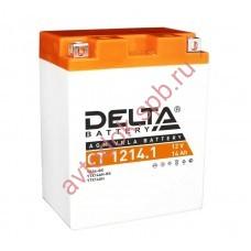 АКБ Delta moto 12v 14A/h (L+) 165А  132х89х164