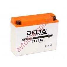 АКБ Delta moto 12v 16A/h (R+) 200A  205х70х162