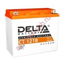 АКБ Delta moto 12v 18A/h (L+) 270А  177х88х154