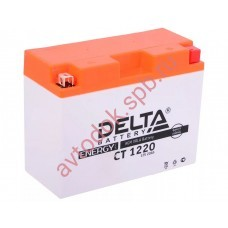 АКБ Delta moto 12v 20A/h (R+) 250А  204x91x159