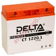 АКБ Delta moto 12v 18A/h (R+) 260A  181x77x167