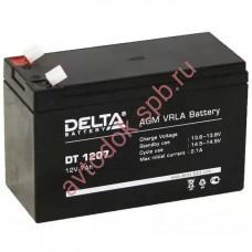 Delta DT1207 12V 7A/h (клемма F1 зажим 4,8мм) 151х65х95(102)