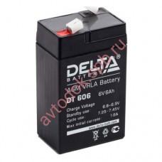 АКБ Delta DT 606 6V 6A/h (клемма F1 зажим 4,8мм) 70х47х101(107)