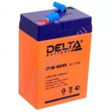 АКБ Delta DTM 6045 6V 4.5A/h (клемма F1 зажим 4,8мм) 70х47х101