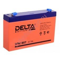 АКБ Delta DTM 607 6V 7A/h (клемма F1 зажим 4,8мм) 151х34х94