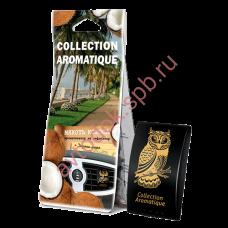 "Ароматизатор FOUETTE D-44 ""Мякоть кокоса"" на дефлектор серии Collection Aromatique в коробке"