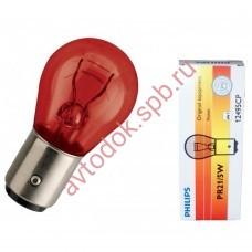 """Лампа """"Phillips""""21/5вт смещ. цоколь RED 12V"""