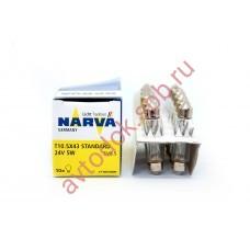 Лампа Narva Fest T10.5x43 24V- 5W (SV8,5)