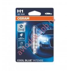 Лампа OSRAM H1 12V- 55W (P14,5s) (белый яркий свет-голуб.оттен.) Cool Blue Intense (блистер 1шт.)