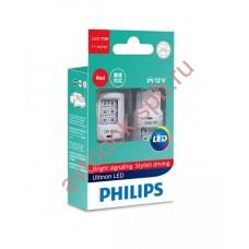 """Светодиодная лампа """"Phillips"""" W21вт 2шт 12/24V (Wх316d) LED RED"""