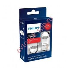 """Светодиодная лампа """"Phillips"""" W21W 12/24V-LED (W3x16d) RED X-tremeUltinon LED (к.уп.2шт.)"""