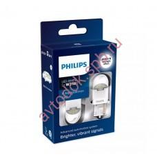 "Светодиодная лампа ""Phillips"" W21W 12/24V-LED (W3x16d) White X-tremeUltinon LED (к.уп.2шт.)"