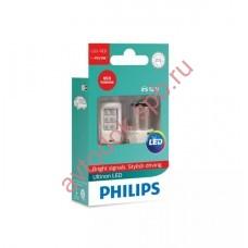 "Светодиодная лампа ""Phillips"" P21/5вт 2шт 12V (BAY15D) LED RED"