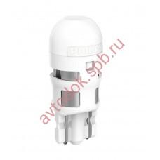 """Светодиодная лампа """"Phillips"""" W5W 12V-1W (W2,1x9,5d) LED 4000K Ultinon LED (карт.уп. 2шт.)"""