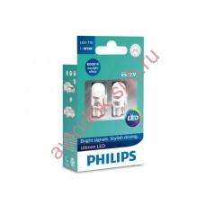 "Светодиодная лампа ""Phillips"" W5W 12V-1W (W2.1x9.5d) LED 6000K (2шт.) 11961ULWX"