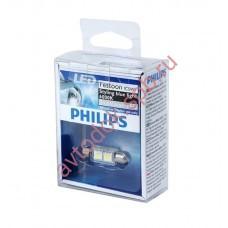 "Светодиодная лампа ""Phillips"" салонн. C5W 35мм 2 SMD BLUE VISION LED 6000K"