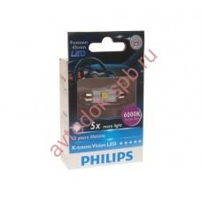 "Светодиодная лампа ""Phillips"" салонн. C5W 43мм X-TREME VISION LED 6000K"