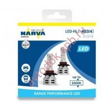 Светодиодная лампа NARVA HB3/HB4  12V 6500 K  Range Performancer LED (бокс 2шт.)