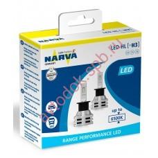 Светодиодная лампа NARVA H3  12V 6500 K  Range Performancer LED (бокс 2шт.)