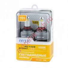 """Светодиодные лампы """"MTF"""" HB4, HB3 Active Night  (2шт. к-т) 4500К"""