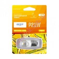 "Светодиодная лампа ""MTF"" 12 V P21W Night Assistant 2.5Вт янтарная,блистер 1шт"