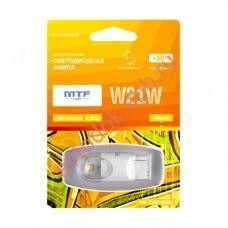 "Светодиодная лампа ""MTF"" 12 V W21W Night Assistan б/ц 2.5Вт янтарная,блистер 1шт"