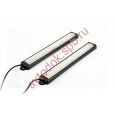 Ходовые огни ВЫМПЕЛ DRL-OS-B6 (пласт. корпус, стекло супер яркие) 36 диодов