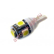 "Светодиод ""Вымпел"" T-10-W5W 5SMD (5050) габариты; подсветка WHITE (2шт. к-т)"