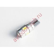 """Светодиод """"Вымпел"""" T-10-W5W 6SMD (5630) габариты; CAN BUS LENS WHITE (2шт. к-т)"""