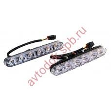 Ходовые огни ВЫМПЕЛ DRL-HP-X6 (метал. корпус 6 диодов повор. бегущая строка)