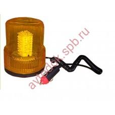 """Маячок проблесковый (жёлтый) магнит + стационар 12В """"стакан"""" (H=150мм, D=125мм)"""
