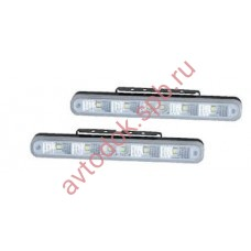 Ходовые огни HY-091-15 LED (10-30V, 205*23мм) 6-диодов