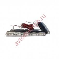 Ходовые огни HY-091-8 LED (12V, 200*18мм) 5-диодов