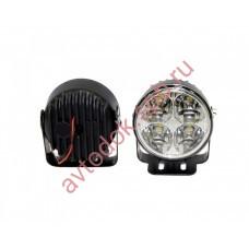 Ходовые огни HY-092-1-P LED (12V, Dx70мм) круглые 4-диода