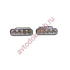 Ходовые огни HY-092-2-P 4LED (12V, 120*36мм) 4-диода