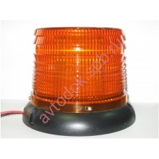 Маячок проблесковый светодиодный желтый LED-16H 12V/24V