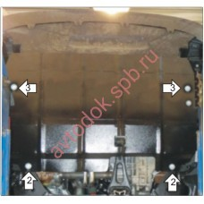 Защита двигателя FORD TRANZIT 2мм сталь (zakaz)