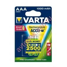 Элемент питания аккумуляторн.AAА 1.2V 1000 mАh VARTA ACC (блист. 2шт.)